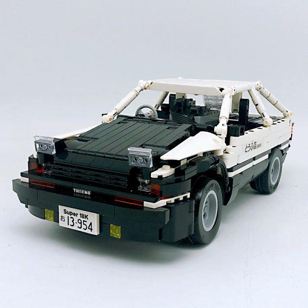 18K K91 Head text D Fujiwara tofu shop Toyota AE86 drift 4